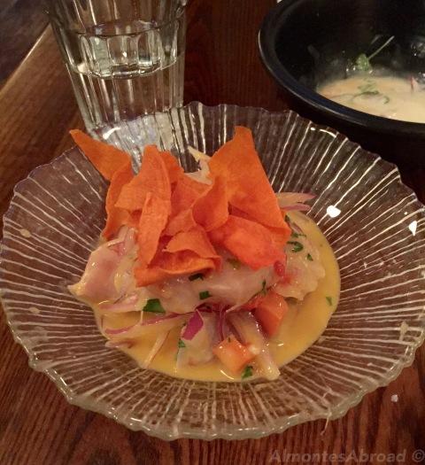 Sea Bass Ceviche Almontes Abroad